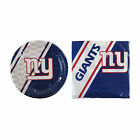NFL Team Disposable 20 pack Paper Plates with 20 pack Paper Napkins Party Supply