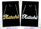 Personalised Necklaces 18ct Name Jewelry Pendant Gifts Arabic/Asian/Muslim Eid
