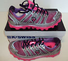 K Swiss Women's Vertical Tbscali-Mari Neon Pink & Purple Low Trainers Size UK 5