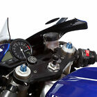 """Motorcycle Fork Stem Centre Yoke Mount with 1"""" 25mm 3 Prong Adapter."""