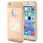 For iPhone X SE 5 5s 6 6s 7 8 Plus Shockproof Hard Case Cali Life California