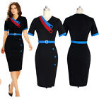Fashion Women Short Sleeve Casual Evening Party Business Work Slim Pencil Dress