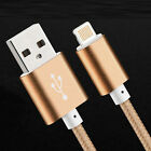 2pcs 5ft/3ft nylon Apple iphone 5 6 6S Charger USB Data Cord Lightning Cable