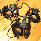 Classic Fashion Venetian Mardi Gras Black Masquerade Mask for Men