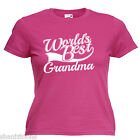 World's Best Grandma Gift Womens Ladies Lady Fit T Shirt