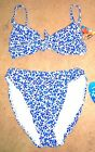Sizes XS-XL - NWT Sunsets Blue Floral Bikini Swimsuit Separates