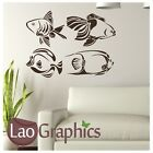 Set Of 4 Tropical Fish Wall Art Sticker Large Vinyl Transfer Graphic Decal Fi24