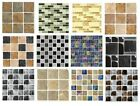 Mosaic tile stickers transfers KITCHEN BATHROOM TILES Marble STONE glass EFFECT