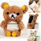 3D Cute Teddy Bear Cool Plush Toy Doll Skin Case Cover For Various HTC Phones
