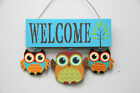 Wooden Owl Welcome Sign Door Decor Hanging Cute Baby Owl Wall Decorations