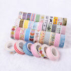 5 10Pcs Masking Washi Adhesive Paper Sticker Tape Sticky Decorative DIY Tool
