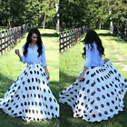 Hot Women Double Layer Chiffon Pleated Long Maxi Beach Dress Elastic Waist Skirt