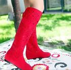 Women Hollow Sandals Knee High Boots Breathable Summer Flat Sexy Shoes New L4