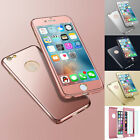 ROSE GOLD Hybrid 360° Ultra thin Case Cover For Apple iPhone 5/5S/5SE/6/6S