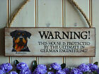 PERSONALISED WARNING SIGN BEWARE ROTTWEILER SIGN UNUSUAL ROTTIE GIFT GATE SIGN
