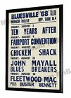 John Mayalls Bluesbreakers Concert Poster Bluesville Club Manor House London '68