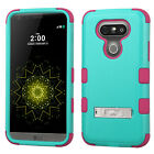 For LG G5 - HARD&SOFT RUBBER HYBRID ARMOR SKIN PHONE CASE COVER with KICKSTAND