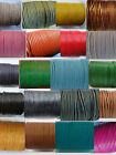 100% Real Round Leather Cord 1mm String Lace Thong Jewellery - HQ