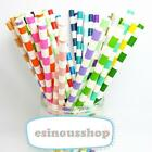 25-100pcs Multicolor Paper Drinking Straws Birthday-Wedding-Garden Party