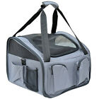 Tenive Pet Dog Car Seat Booster Tote Soft Safety Travel Carrier Bag Grey