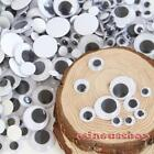 100Pcs Round Self-adhesive Peel Sticker Wiggly Googly Eyes For Toy DIY HOT