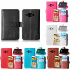 Colorful 9 Card Slots Leather Wallet Case Cover For Samsung Galaxy J1 J100 & J5