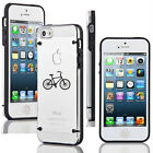 For iPhone SE 5 5s 5c 6 6s Plus Clear Hard TPU Case Cover Bike Bicycle