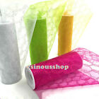 6'' x 10 yards Tulle Organza Gauze Glitter Roll Spool Tutu Wedding Party Craft