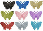 Self Adhesive Glitter Butterflies 12 Pack Wedding Favour Box Decoration Craft