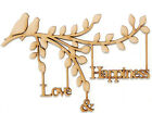 Wooden mdf Branch  Love & Happiness with Birds Family Tree Branch  Wedding Gift