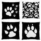 Image 2Side Dog Paw Print Photo Smooth Firm Feel Patio Scatter Cushion Case~New
