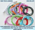 NTJ 3FT Braided 3.0 USB power cord Charger Cable For Samsung Galaxy S5 Note 3