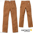 CARHARTT Arbeitshose EB136 ☆ Washed Duck Double-Front Work Dungaree ☆ BROWN ░