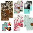 NEW For Boost Max N9520 Hybrid PU Leather Wallet Pouch Case Flip Cover Designers