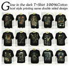GHOST GLOW IN THE DARK SHORT SLEEVE BLACK T-SHIRT 100% COTTON