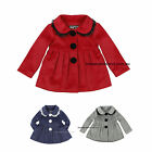 Baby Girls Woven Classic Skater Coat Winter Coat Jacket Kids Outwear 3 colours