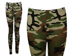 NEW WOMENS STRETCHY CAMOUFLAGE PATTERNED LADIES ANKLE LEGGINGS SIZE 6-12