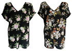 NEW LADIES FLORAL PRINT V NECK BAGGY OVERSIZED ROLL SLEEVE TOP PLUS SIZE 6-24