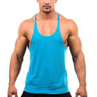 Cool Sleeveless Shirt Cotton Gym Muscle Tank Top Fitness Vest Men Sports Singlet