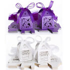 25x Wedding Favour Boxes w/ Ribbon Party Candy Gift Baby Shower Bomboniere Box
