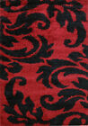 NEW Piccolo Spring Red/Black Shag Rug