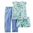 Carter's  Girls' 3-Piece Pajamas Set   MSRP$36.00   Size 10, 12, 14
