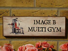 PERSONALISED HOME GYM SIGN GARAGE SIGN WORKOUT ROOM DUMBELLS GIFT FITNESS SIGNS