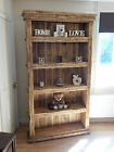 Large chunky bookcase rustic reclaimed shelving unit solid wood timber furniture