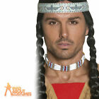 Adult Indian Choker Western Authentic Tribal Necklace Fancy Dress Accessory New