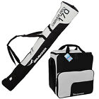 BRUBAKER Ski Bag Combo for Ski Poles Boots Helmet 66 7/8 or 74 3/4 Black Silver