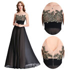 Women Long Maxi Evening Formal Party Ball Gown Prom Bridesmaid Dress Size 4-18