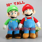 ❶❶Huge Super Mario Brothers Luigi and Mario 18' Plush Toy Stuffed Doll USA❶❶