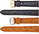 New Men's Long Genuine Ostrich Leather Watch Strap Band