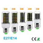 New Led E14 E27 base Corn Light Bulb 110V 220V No flicker with cover High Lumen